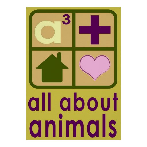 All About Animals Logo Posters