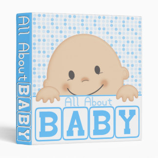 All About Baby (Blue) Binder