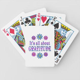 ALL ABOUT GRATITUDE BICYCLE PLAYING CARDS