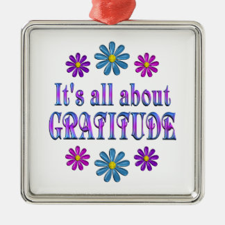 ALL ABOUT GRATITUDE METAL ORNAMENT