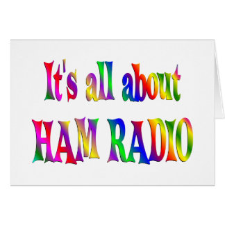 All About Ham Radio Card