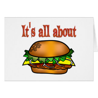 All About Hamburgers Card