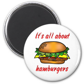 All About Hamburgers Magnet