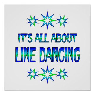 All About Line Dancing Poster