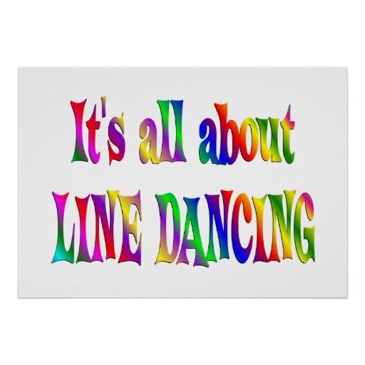All About Line Dancing Print
