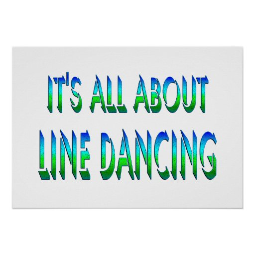 All About Line Dancing Posters