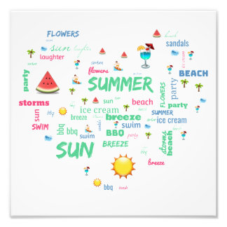 All about summer photo print