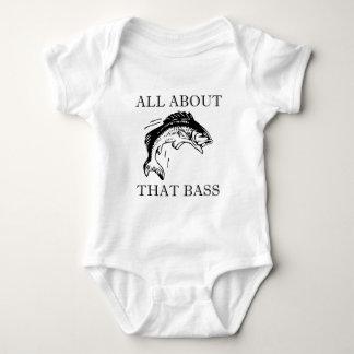 All About That Bass Fishing Fisherman Boating Pun Baby Bodysuit