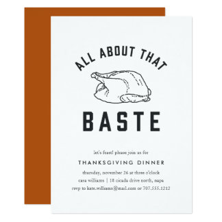 All About that Baste Thanksgiving Invitation