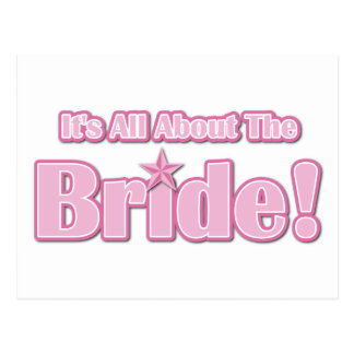 All About The Bride Postcard