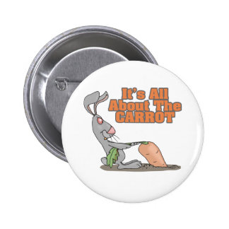 all about the carrot funny bunny rabbit cartoon buttons