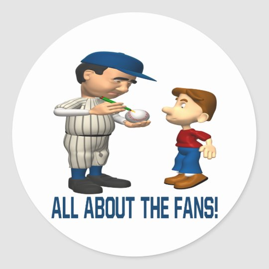 All About The Fans Classic Round Sticker