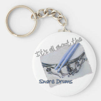 All About the Snare Drums Keychain