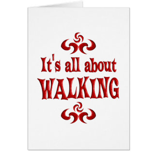 ALL ABOUT WALKING CARD