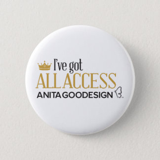 All Access Club Button (White)