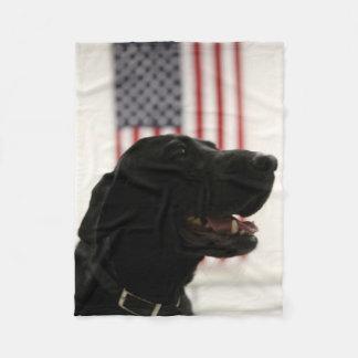 All-American Black Labrador Retriever Fleece Blanket