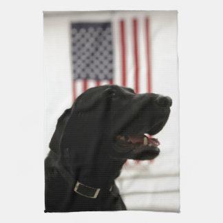 All-American Black Labrador Retriever Kitchen Towel