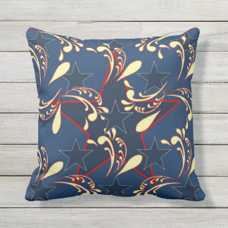 All American Blue Stars Patriotic Pillow