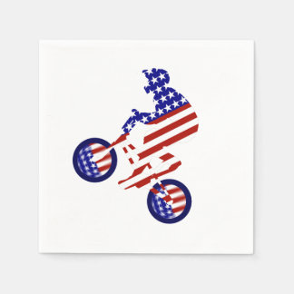 All-American BMX Rider Disposable Napkin