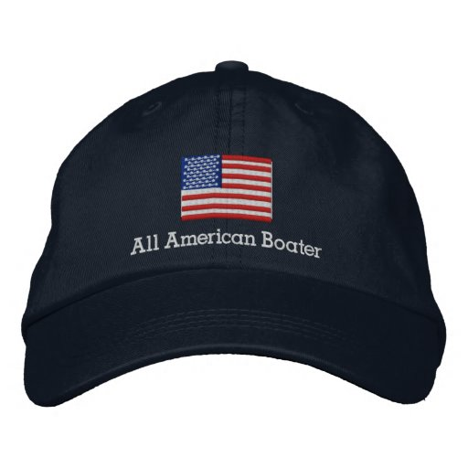 All American Boater Embroidered Baseball Caps