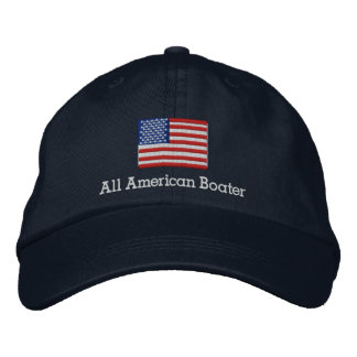 All American Boater Embroidered Hat