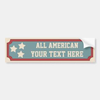All American Car Bumper Sticker