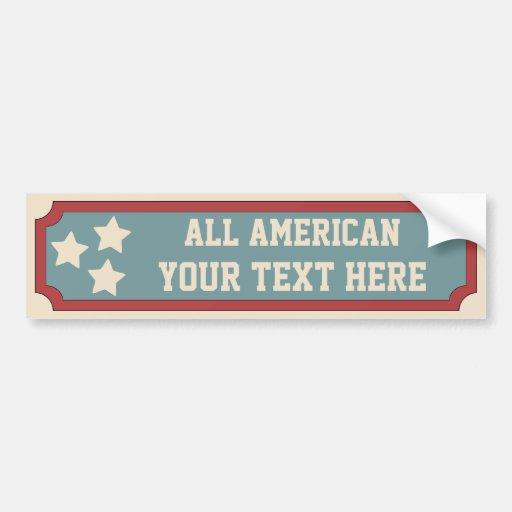 All American Bumper Stickers