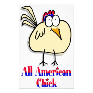 All American Chick Stationery