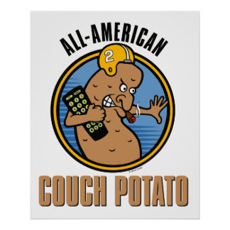 All-American Couch Potato Poster