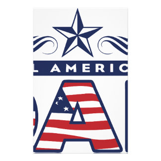 All American Dad Personalized Stationery
