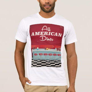 All American Diner Retro Poster T-Shirt