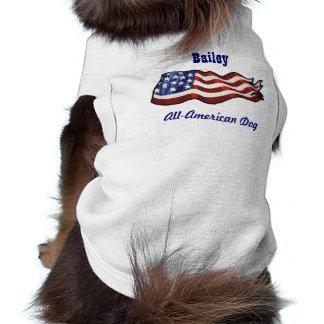 All American Dog Custom Personalized Name Pet Tee Shirt