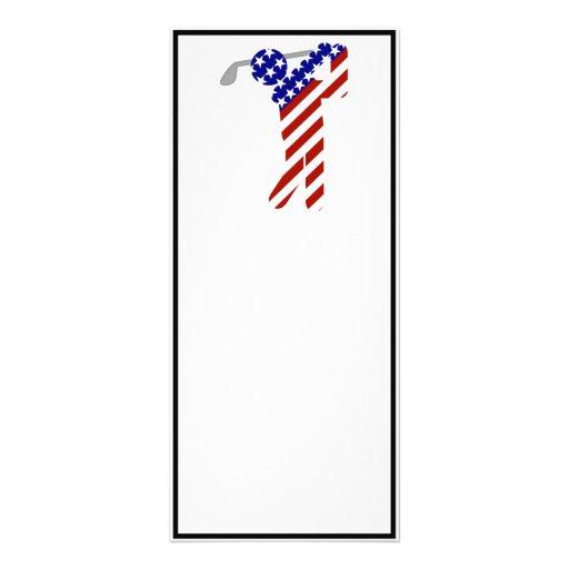 All American Golfer - Mens Golf Custom Rack Card