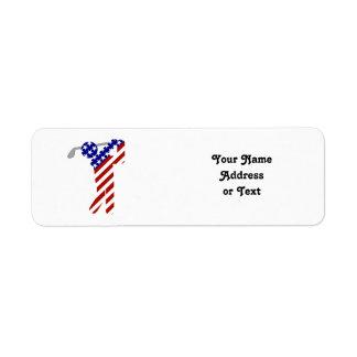 All American Golfer - Mens Golf Return Address Label