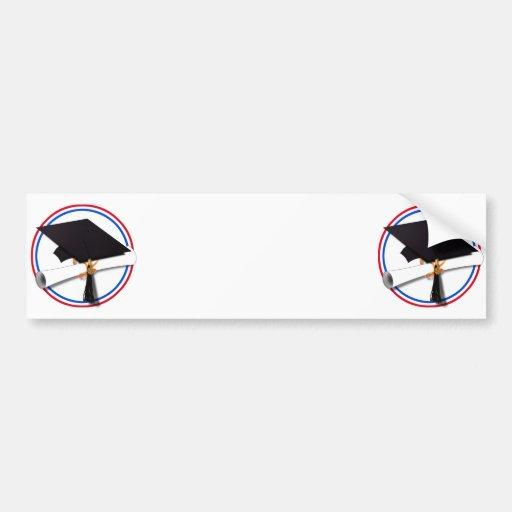 All American Grad - Red White & Blue Colors Bumper Sticker