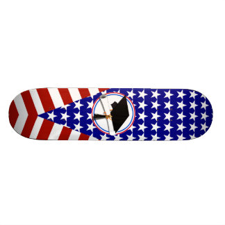 All American Grad - Red White & Blue on Stars Skate Board