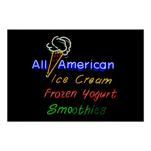 All-American Ice Cream, Frozen Yogurt and Smoothie Print