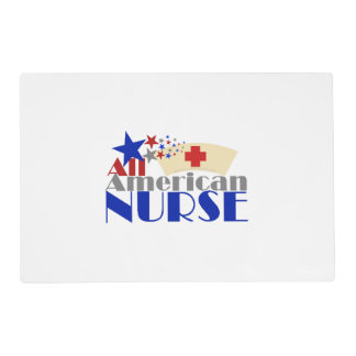 All American Nurse Laminated Placemat