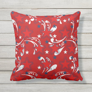 All American Outdoor Throw Pillow