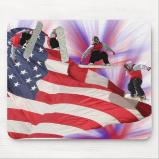 All American Snowboard Mousepad