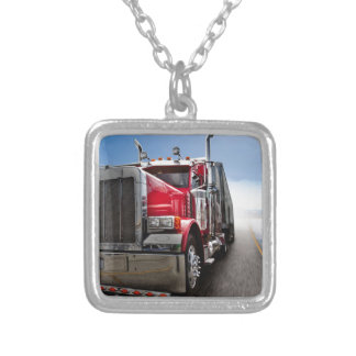 All American Trucker Silver Plated Necklace