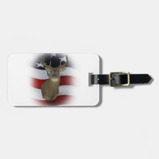All American Whitetail Deer Hunter Luggage Tag