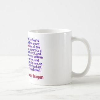 All Are Free To Believe - Ronald Reagan Coffee Mug