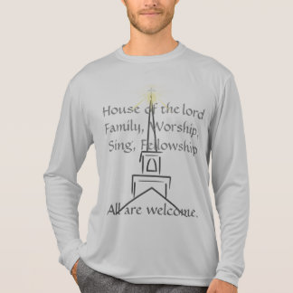 All Are Welcome, Gray Men's long sleeve T-Shirt