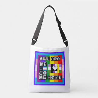 All Are Welcome Here Crossbody Bag