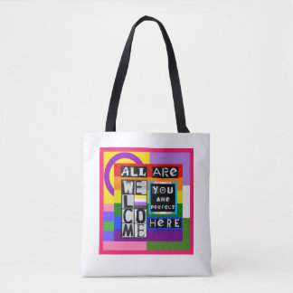 All Are Welcome Here Tote Bag