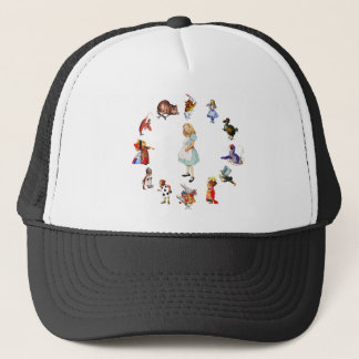 ALL AROUND ALICE IN WONDERLAND TRUCKER HAT