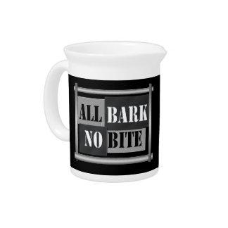 All bark no bite. pitcher