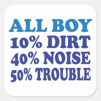 All Boy Square Sticker