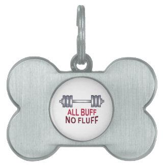 ALL BUFF NO FLUFF PET ID TAG
